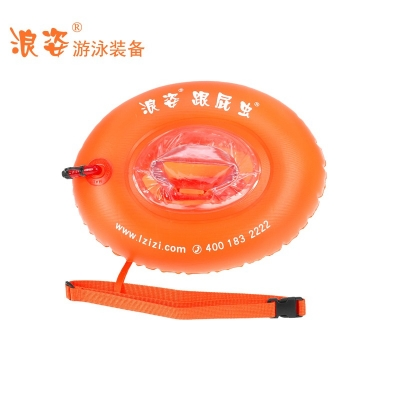 F-906Langzi transparent swimming float (installing the closing)